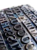 letterpress typu Zdjęcie Stock