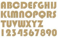 Letterpress uppercase alphabets - A to Z Stock Photos