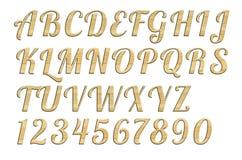 Letterpress uppercase alphabets - A to Z Stock Photo