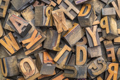 Letterpress wood type blocks background Royalty Free Stock Images