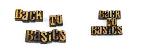Letterpress z powrotem podstawy bloki Obrazy Stock