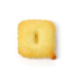 Letterr q сделанное из изолированного печенья шутихи на белой предпосылке Стоковое Фото