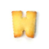 Letterr w сделанное из изолированного печенья шутихи на белой предпосылке Стоковое Изображение