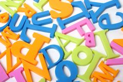 Letters. Colorful letters against a white background Stock Image