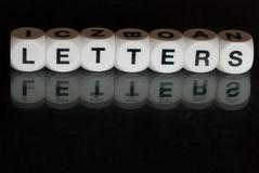 Letters stock photos