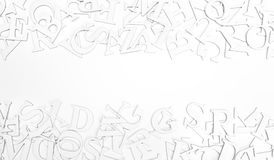 Letters. Abstract background of letters on white background Royalty Free Stock Images