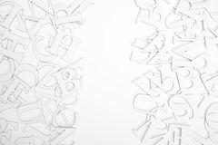 Letters. Abstract background of letters on white background Stock Photography