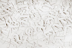 Letters. Abstract background of letters on whit Royalty Free Stock Photos