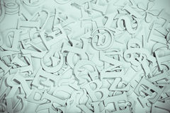Letters. Abstract vintage image of letters.personal editing,focus on the centre Stock Photo