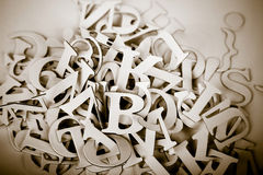 Letters. Abstract vintage image of letters.personal editing Stock Photography