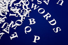 Letters. Abstract  image of letters.personal editing Royalty Free Stock Photos