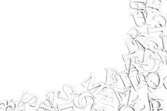 Letters. Border of letters on a white background with copyspace Stock Photography