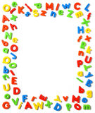 Letters. Composition of many colorful plastic letters Stock Photo