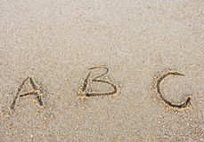 Letters abc Stock Photography