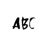 Letters ABC. Handwritten by dry brush. Rough strokes font. Vector illustration. Grunge style alphabet Stock Image