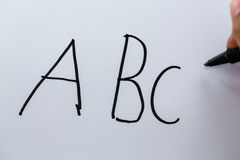 Letters ABC Stock Photo