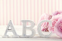 Letters ABC2 Royalty Free Stock Photos
