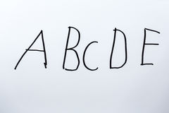 Letters ABCDE Stock Photography