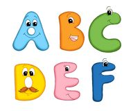 Letters of the alphabet - 1 Royalty Free Stock Photos