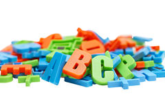 Letters of the alphabet Stock Images