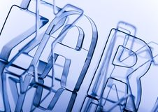 Letters from alphabet Stock Images