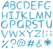 Letters of the alphabet stock illustration