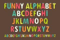 Letters Alphabet for Children Education. Cartoon Vector Illustration of Funny Capital Letters Alphabet for Children Education. Funny alphabet with eyes. Vector stock illustration