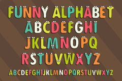 Letters Alphabet for Children Education. Cartoon Vector Illustration of Funny Capital Letters Alphabet for Children Education. Funny alphabet with eyes. Vector vector illustration