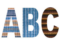 The letters of the alphabet.Created from knitted cloth. Royalty Free Stock Photography