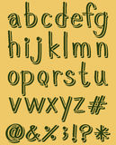 Letters of the alphabet in green color Stock Photography