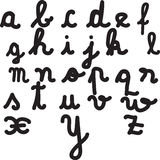 Letters of the alphabet Royalty Free Stock Photos