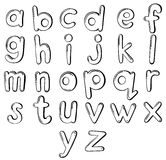 Letters of the alphabet. Illustration of the letters of the alphabet on a white background Stock Image