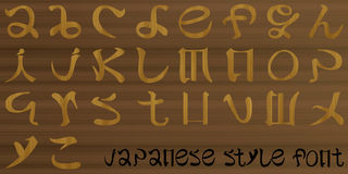 Letters of the alphabet Japanese Style. Stock Image