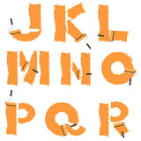Letters of the alphabet painted with paint roller Stock Photography