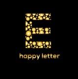 E letter bubbles vector logo design. Letters of the alphabet  Sparkling water emblem Royalty Free Stock Photos