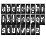 Letters alphabet on terminal Stock Image