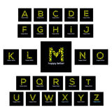 Letters of the alphabet water bubbles letter vector logo Royalty Free Stock Photos