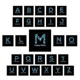 Letters of the alphabet water Bubbles vector logo Royalty Free Stock Image