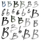 Letters of the alphabet written with a brush Royalty Free Stock Image