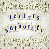 Letters authority Royalty Free Stock Photos