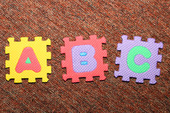 Letters A, B, C Royalty Free Stock Photo
