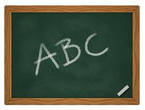Abc on chalkboard. Letters a, b and c on chalk board - 3d illustration Vector Illustration
