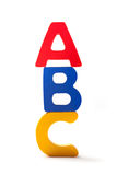 Letters A B And C One Over The Other Stock Photos