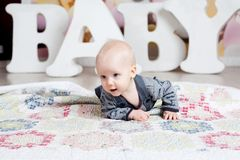 Letters baby boy Royalty Free Stock Photos