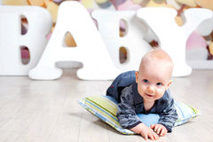 Letters baby boy Stock Photo
