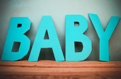 Letters baby Royalty Free Stock Photos