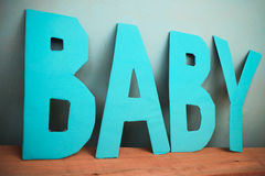 Letters baby Stock Photos