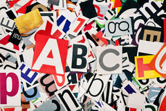 Letters background. Abstract background from newspaper letters clippings Royalty Free Stock Image