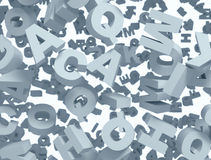 Letters background Royalty Free Stock Photo
