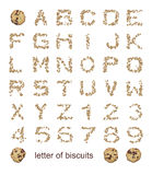 Letters of biscuits Royalty Free Stock Image